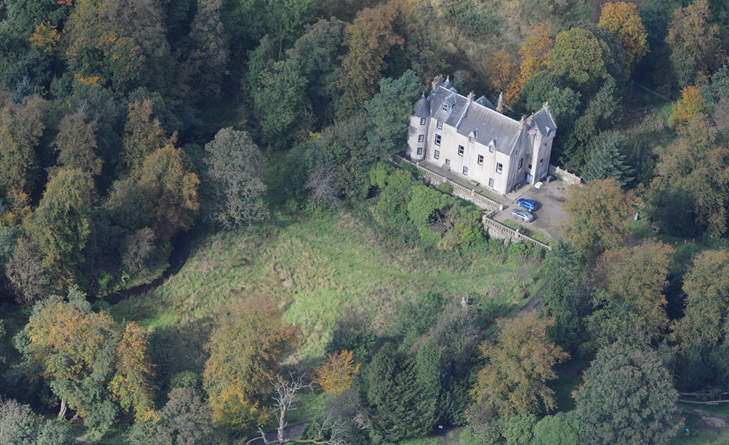 Bedlay Castle - Aerial View