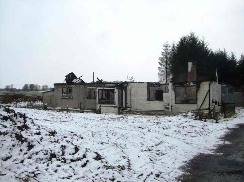 Gryffe Wraes Cottage on Elderslie Estate was destroyed by a fire