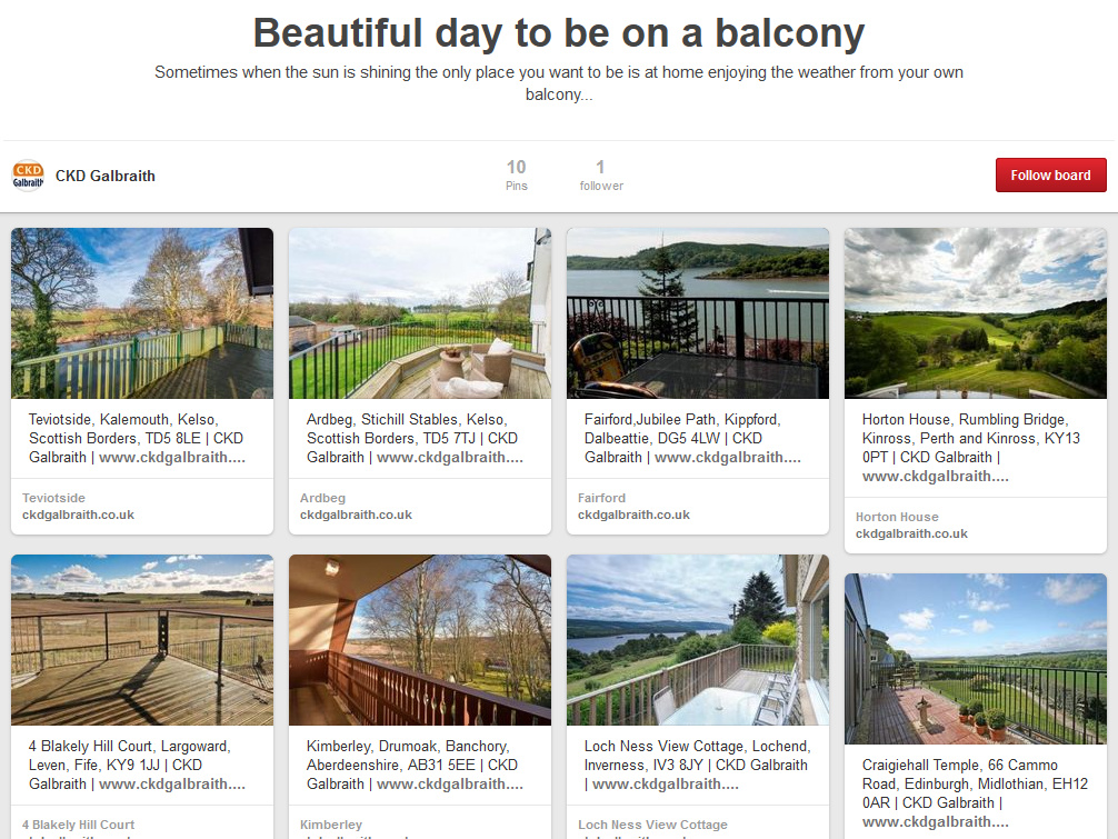Pinterest Balconies Board Preview