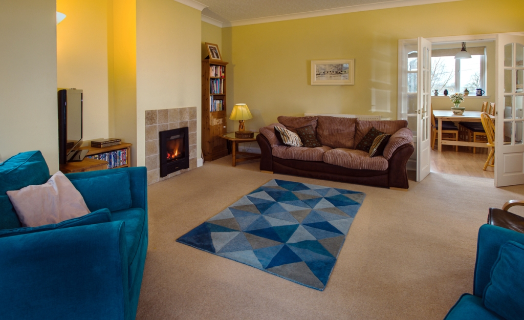 Sitting room of the The Hills, near Selkirk