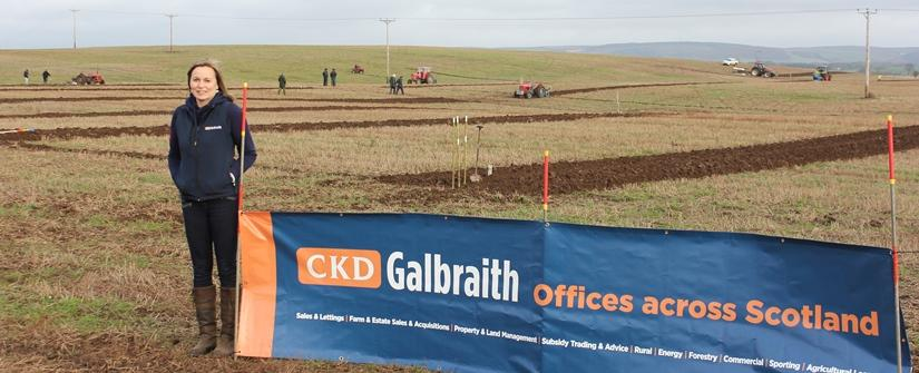 Sheena Ramsay at last year's Wigtownshire Open Ploughing Match