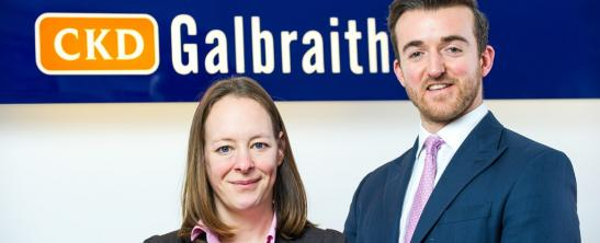 Anna Henderson and Scott Hall from CKD Galbraith's Premium Property Buying Team