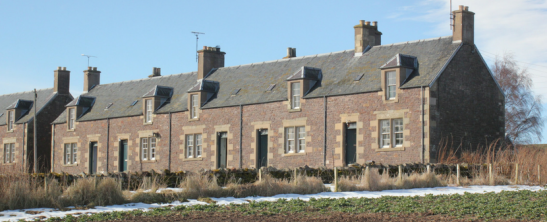 The former farm cottages at Cessford, Roxburghe Estates