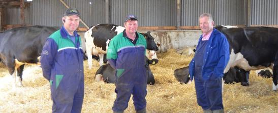 Tenant farmers the Wilsons with their new dairy business on Caledonian Estate