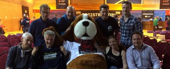 The CKD Galbraith team and support crew meet The Hiking Hound