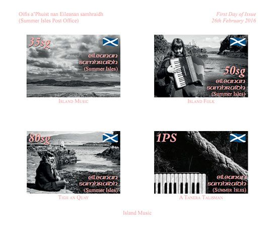 The 2016 issue of Summer Isles Stamps feature musician Mairearad Green