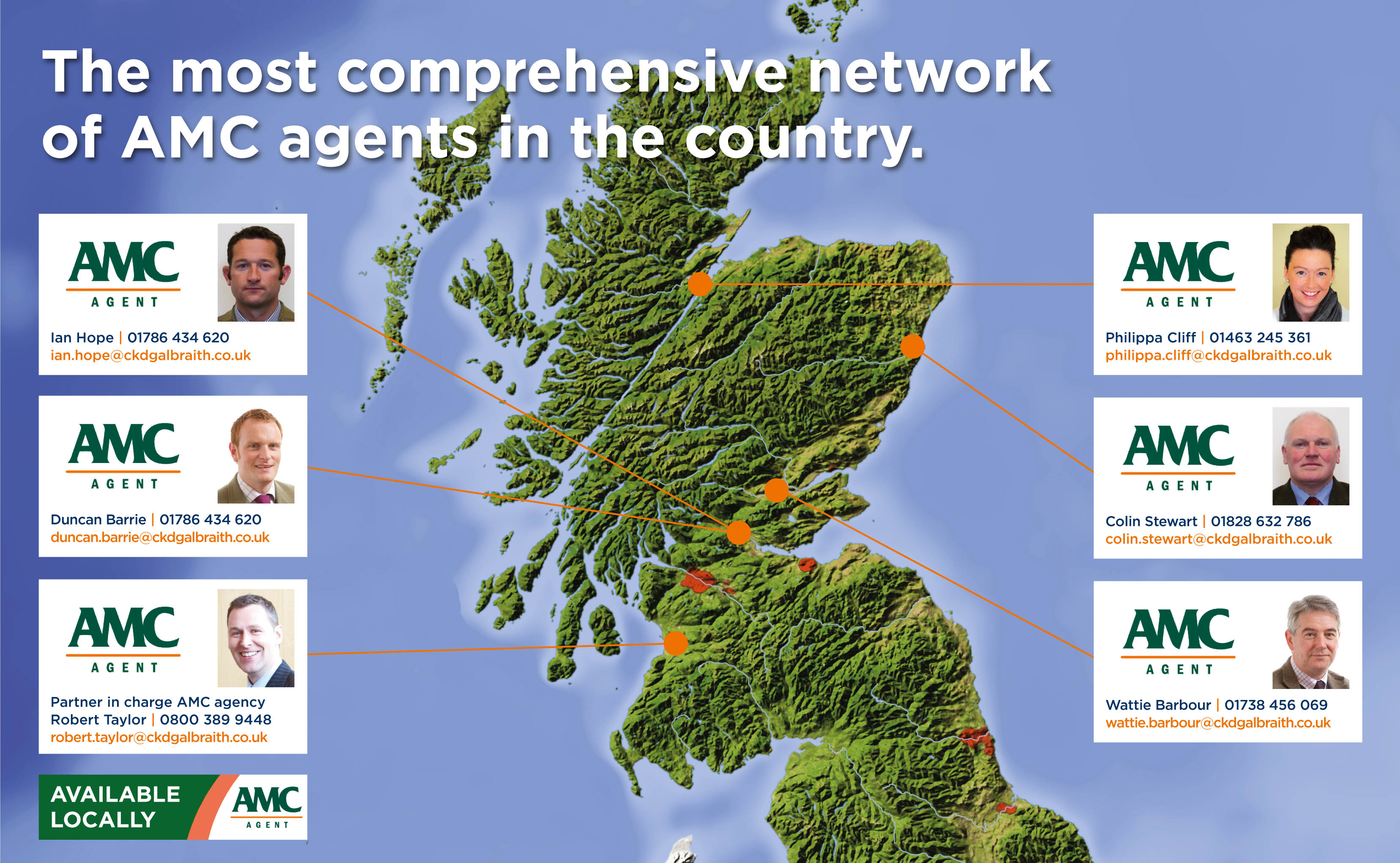 The most comprehensive network of AMC agents in the country