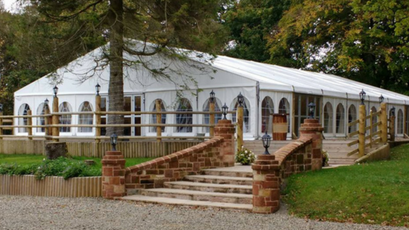 Boswell's Coach House Wedding Marquee