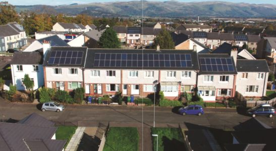 Solar panels in Stirling